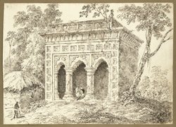 A Hindu rest house near Jehanabad on the West bank of the Damodar River (Bengal). 26 January 1823